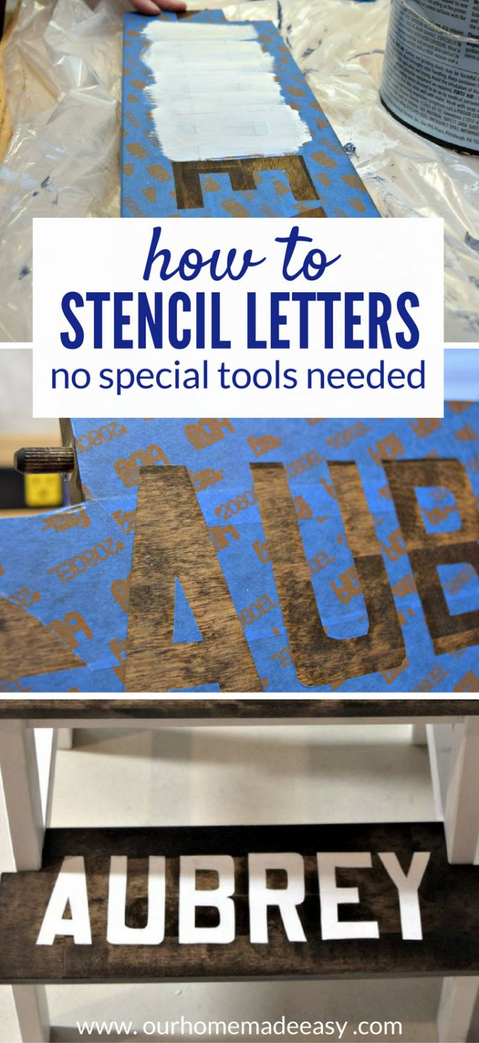 A super easy way to paint letters perfectly! This how to stencil uses free tools! Click to see how you can do it!