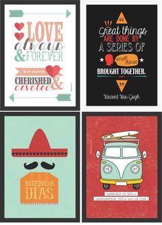 Posters gratuitos para você decorar a sua casa   http://www.blogdocasamento.com.br