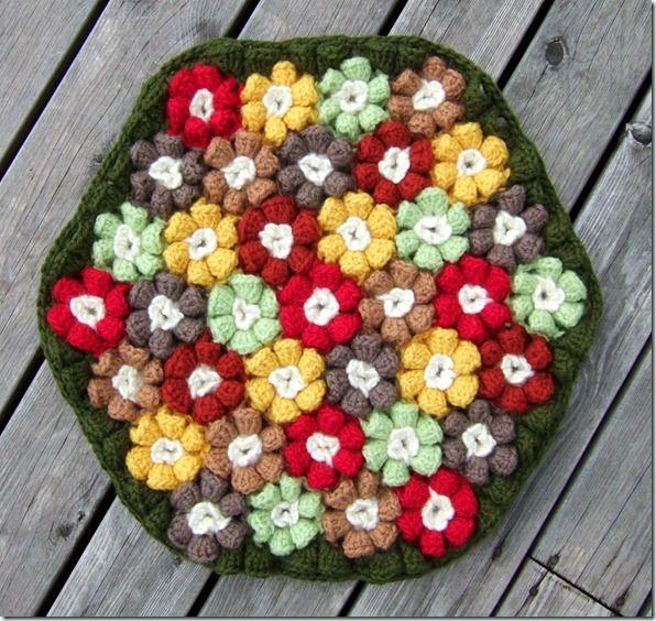hexagon wow!Beautiful Seats, Colors Flower, Crochet Flower, Rose Cushions, Chairs Cushions, Cushions Pads, Crochet Deco, Seats Cushions, Crochet Cushions