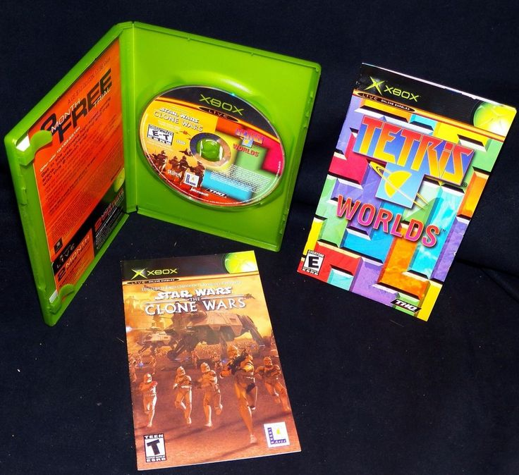 Star Wars The Clone Wars Limited Edition Online Package XBox Live Tetris Worlds #LucasArts