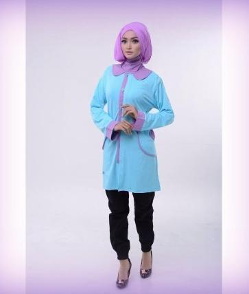 Beli Baju Atasan Wanita Tunik ALNITA AA-09 Biru Muda dari Aprilia Wati agenbajumuslim - Sidoarjo hanya di Bukalapak