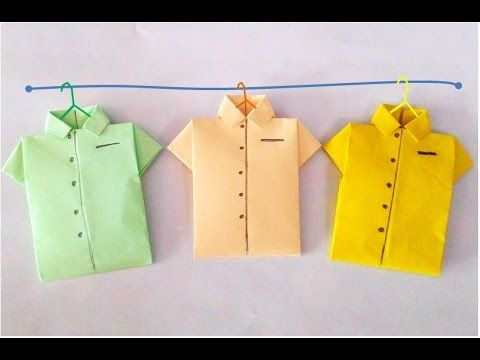Origami-Shirt: How to make paper shirt? วิธีพับเสื้อกระดาษ #PlayCraft# - YouTube