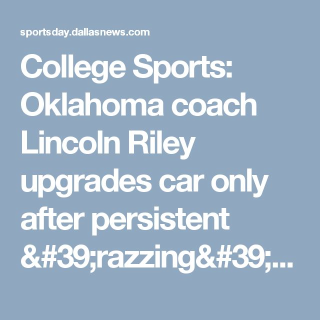 College Sports: Oklahoma coach Lincoln Riley upgrades car only after persistent 'razzing' from players | SportsDay https://www.google.com/maps/place/MEGAN+PHYSICAL+THERAPY+AND+REHABILITATION/@40.0416614,-75.1331319,17z/data=!3m1!4b1!4m5!3m4!1s0x89c6b70cca69a111:0x6c3c0e7d56985eb9!8m2!3d40.0416614!4d-75.1309432?rapsrc=lu_categorical_full_list&hl=en