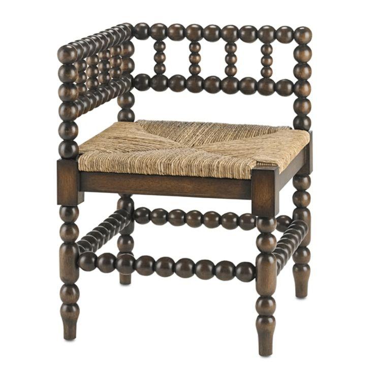 Currey & Company Camden Corner Chair 3225   Designer Furniture