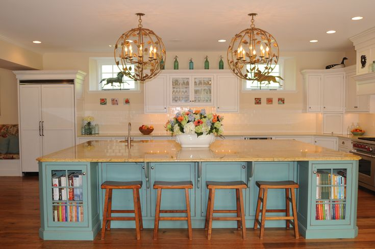 Kitchen Ideas Turquoise turquoise kitchen island in renovated cow barn. | my renovation