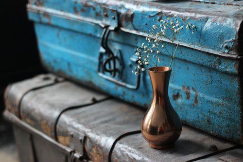 Copper Vase - unique home decor at www.aprilandthebear.com