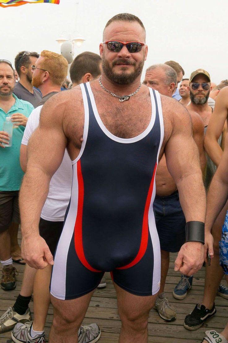 "Muscle Woof On Instagram Bears: Wrestle-bear: "" Muscle-bear Bulging Out Of His Singlet"