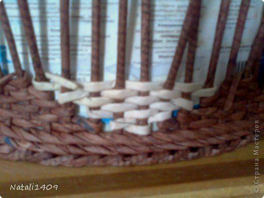 Мастер-класс Поделка изделие Декупаж Плетение ФИЛЕЙНО-СИТЦЕВОЕ плетенье Бумага газетная Салфетки Трубочки бумажные фото 8
