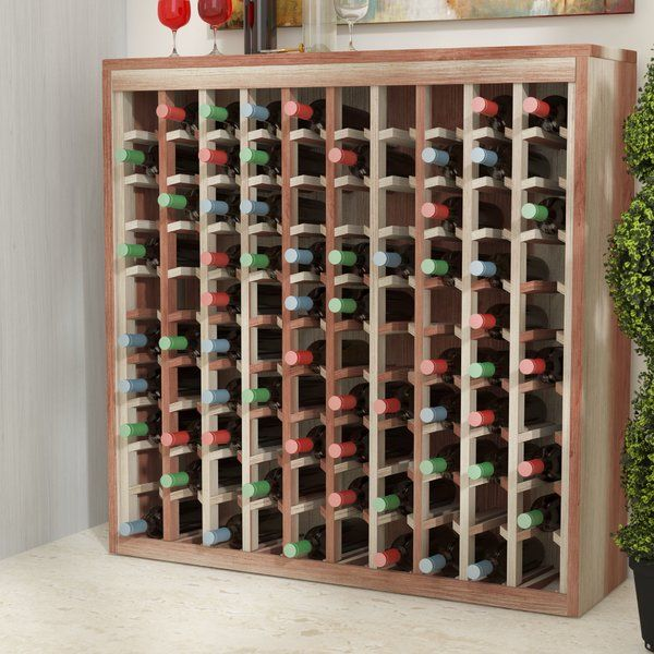 Karnes Deluxe 100 Bottle Floor Wine Bottle Rack Hanging Wine Glass Rack Wine Rack Wine Bottle Rack