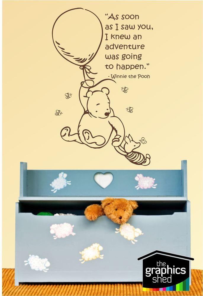 Winnie the Pooh & Piglet Wall Art Sticker Decal Quote Saying  sticker nursery