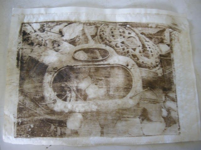 Gum Arabic transfer which is also know as paper lithography or xerox lithography is a quick way to make prints.  Your paper photocopy actua...