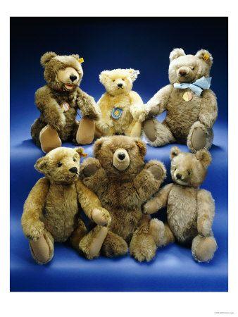 Steiff bears & Two Steiff Black Cat Toys ♥  http://www.pinterest.com/pin/191684527864393537/