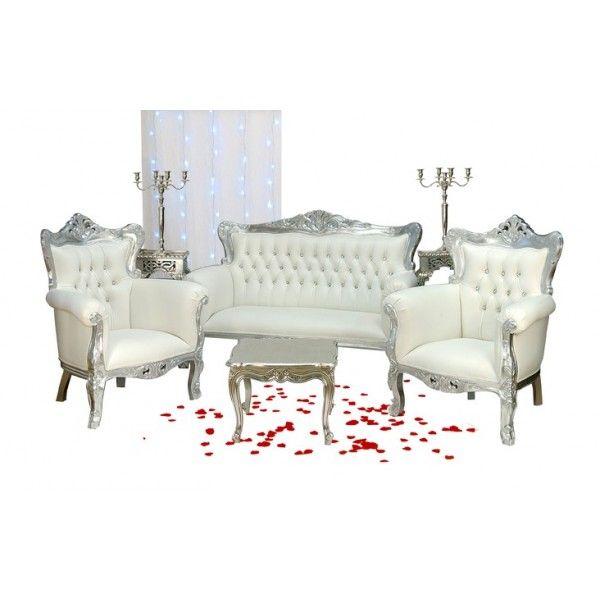 location banquette et fauteuils prince argent et blanc httpwwwlocation - Decoration Mariage Oriental Pas Cher