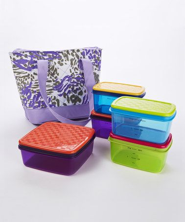 Look at this #zulilyfind! Anna Insulated Lunch Tote & Food Container Set by Fit&Fresh #zulilyfinds