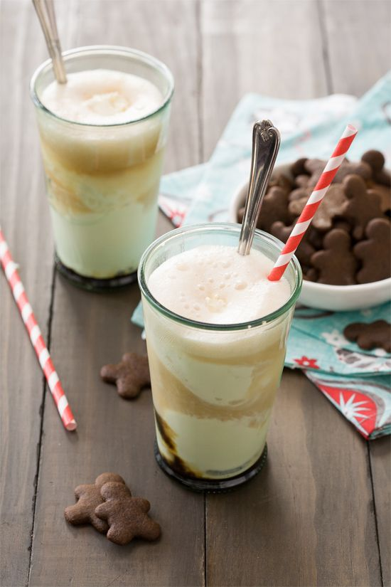 Gingerbread Ice Cream Floats