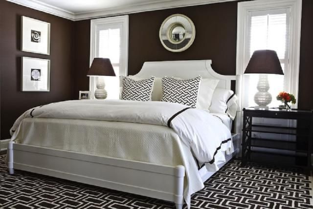 Here's How to Rock Dark Colors of Paint on Your Bedroom Walls: Chocolate Brown