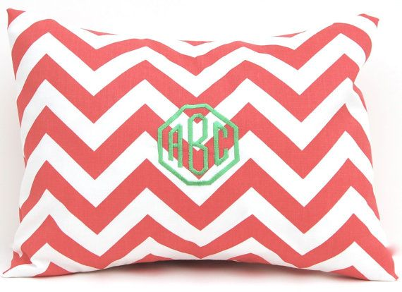 Coral Throw Pillows Decorative Coral Pillow by FestiveHomeDecor, $32.00