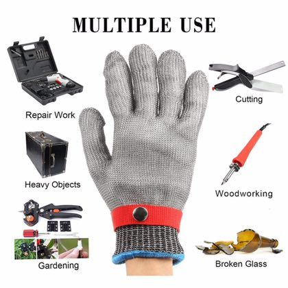 ==> [Free Shipping] Buy Best Free Shipping Safety Gloves Cut-Proof Stab Resistant Work gloves Kitchen Stainless Steel Metal Mesh Butcher Online with LOWEST Price | 32813198290
