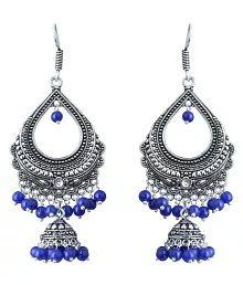 Waama Jewels Blue Brass Hanging Earring