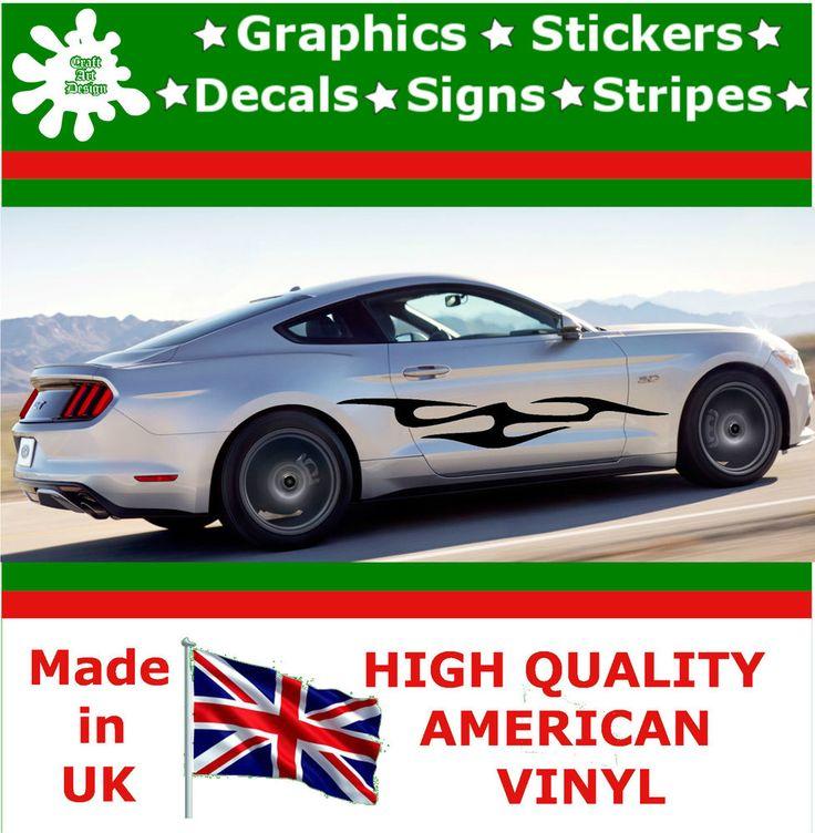"10"" High Car Side Stripes Graphic Decal Vinyl Sticker Van Auto Rally Race F2_99"