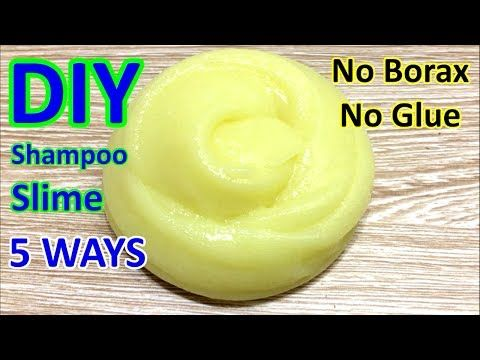 how to make clear slime with shampoo