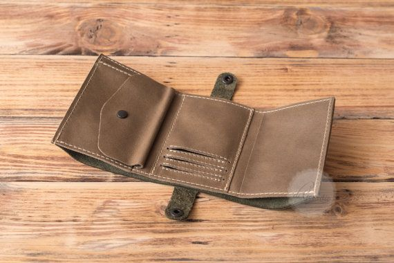 Leather coin purse card holder wallet coin pocket wallet leather wallet coin purse wallet olive genuine leather wallet credit card wallet