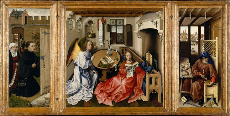 Art history, symbolism and legends: Iconography of Anounciation of Merode Altarpiece by Robert Campin