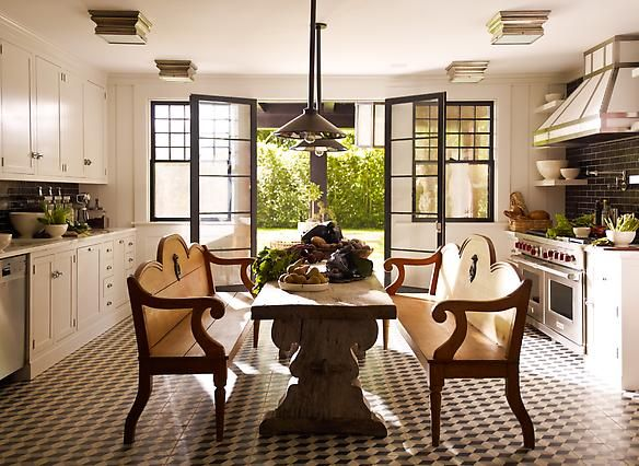 Southampton country kitchen designed by S.R. Gambrel.