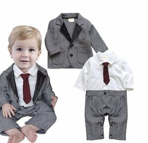 Kinder Baby Jungen Hochzeit Smoking Formell Dressy Party Overall Suit Outfit SET | eBay