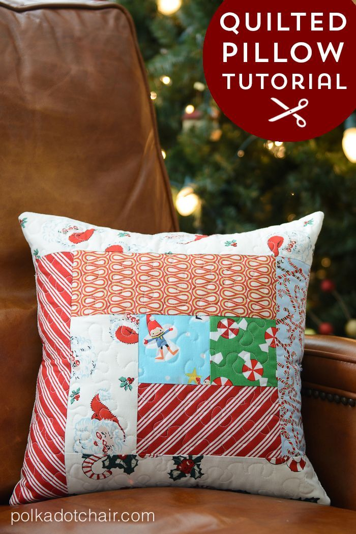 Quilted Pillow Tutorial 165 best Christmas sewing