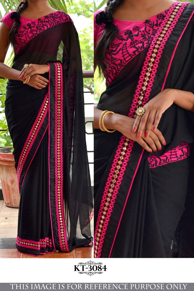 Indian Bollywood Style Heavy Wedding Beautiful Party Designer Saree Sari 3084