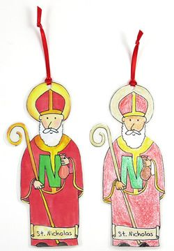 Printable St. Nicholas ornaments. Free to print this little guy! :-)