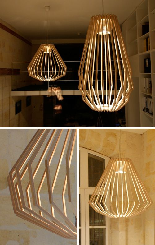 These gorgeous pendants are designed by Gael Wuithier in his artisan workshop in France. The design is a modern interpretation of the antique chandelier.