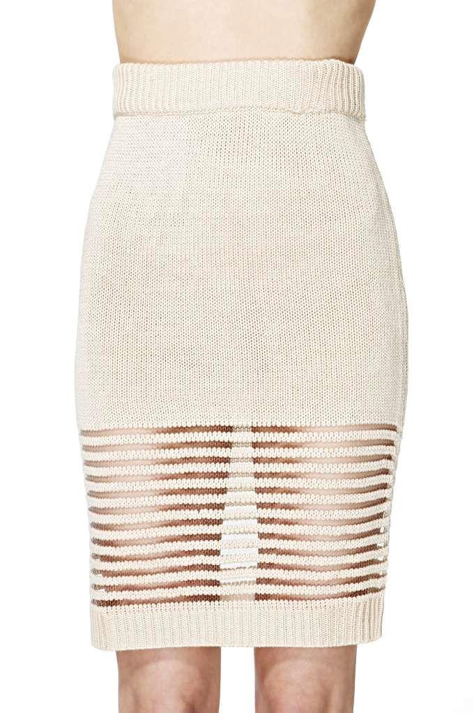 spring knit skirt