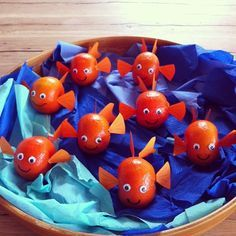 Nemo Fish Tangerines - Creative Fruit Snacks, Healthy Party Food