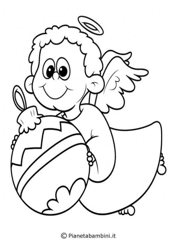 Disegni Angioletti Da Colorare Per Bambini.Pin Su Natale
