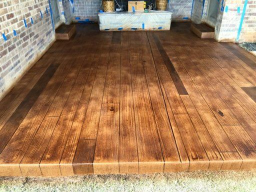Stamped Faux Flooring : Best images about oklahoma decorative concrete
