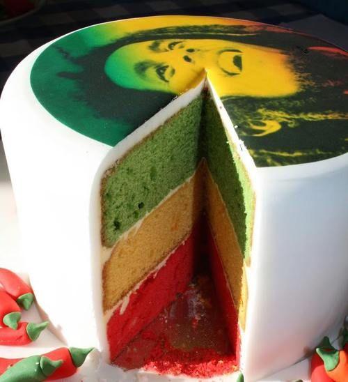 Cool Bob Marley cake