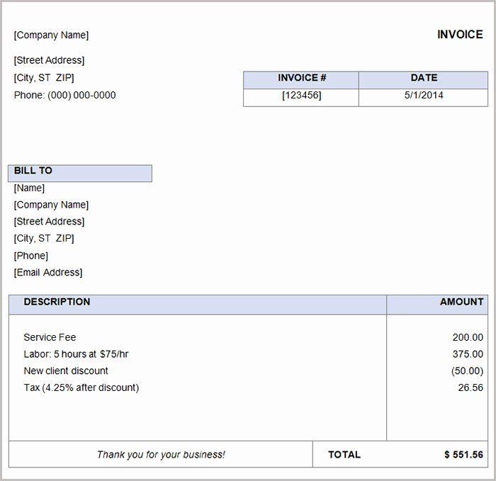 Basic Invoice Template Word Luxury 16 Free Basic Invoice Templates Invoice Template Word Invoice Template Word Template