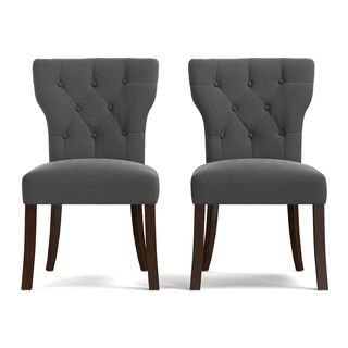 Shop for Portfolio Sirena Grey Velvet Upholstered Armless Dining Chairs (Set of 2). Get free shipping at Overstock.com - Your Online Furniture Outlet Store! Get 5% in rewards with Club O!