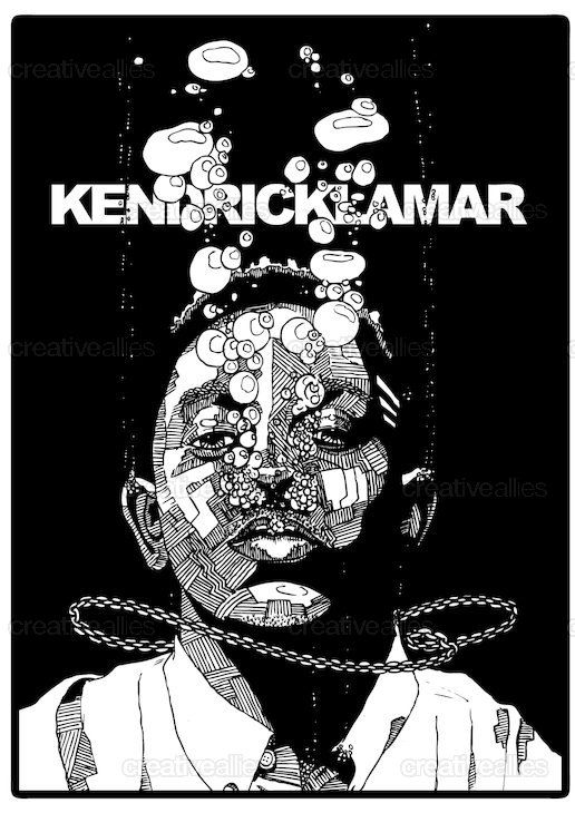 Kendrick Lamar Poster by drawingsandthat on CreativeAllies.com