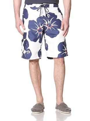 76% OFF French Connection Men's Skegness Woodcut Swim Shorts (Blueprint)