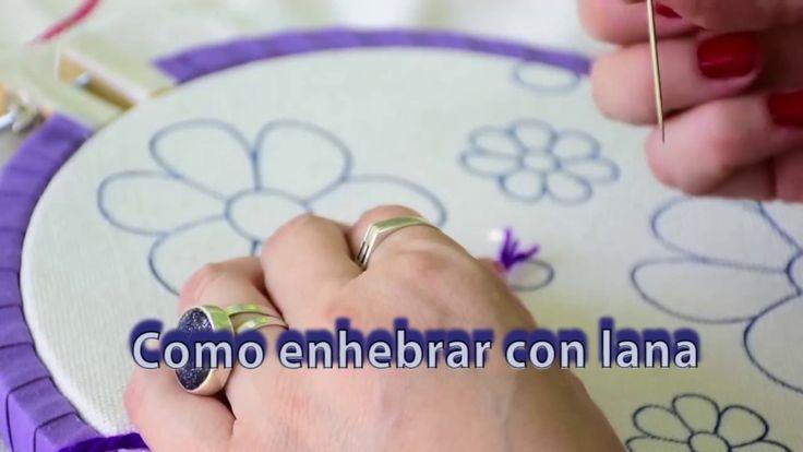 # 2 BRDATIPS: Como Enhebrar Con Lana Para Hacer Bordado Mexicano Princip...