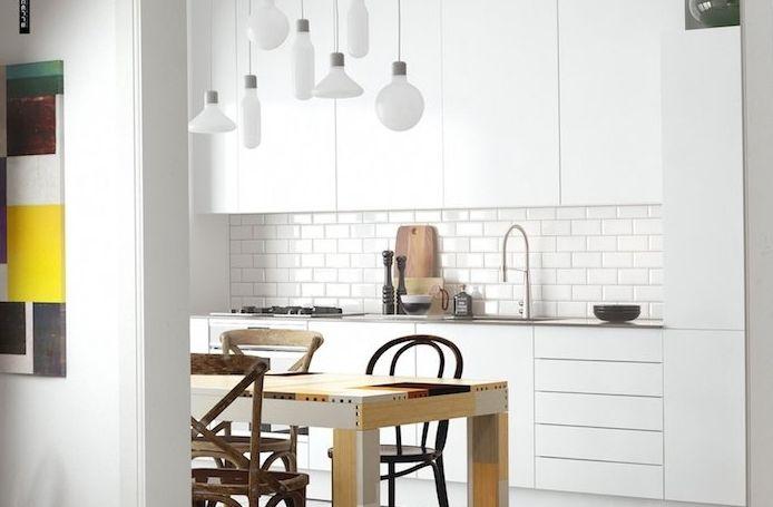 50 best Kitchen images on Pinterest Kitchen ideas, Dinner room and - espace entre plan de travail et meuble haut