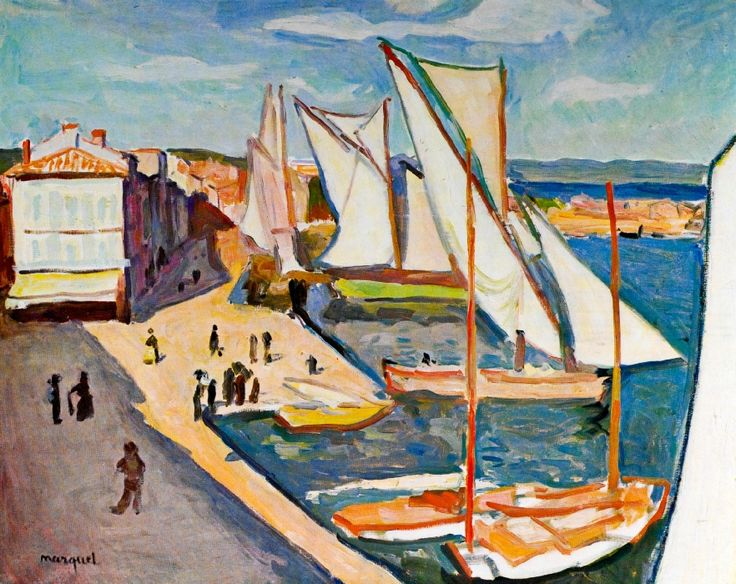 """Port de Saint-Tropez"" by Albert Marquet,"