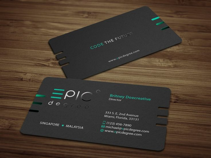280 best social media page design images on pinterest business create a sharp and modern business card for a coding academy by tcmenk reheart Choice Image