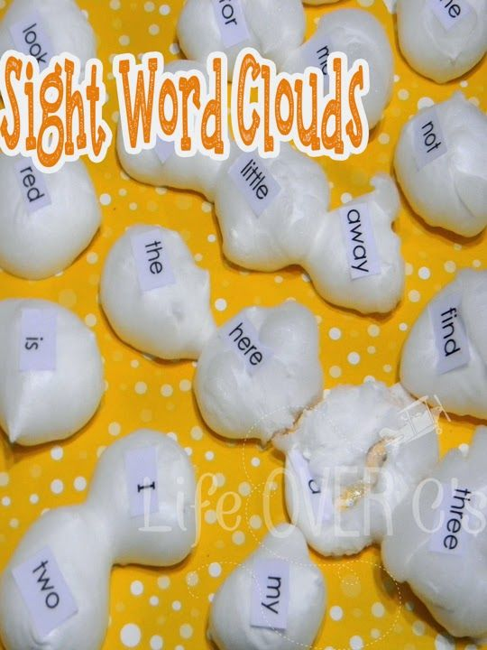 A fantastic, fun & squishy way to review! Sight Word Clouds