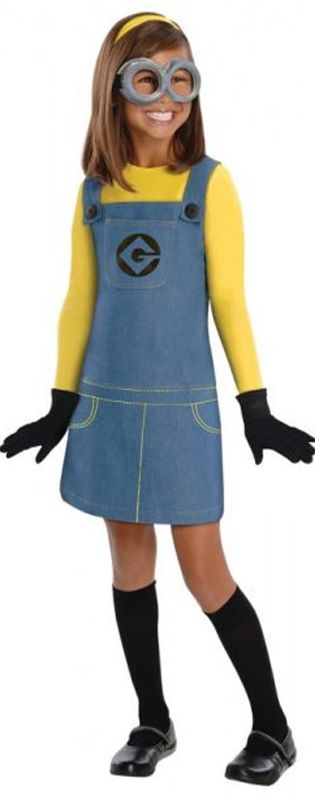 Girl's Minion Costume  Minions themed birthday party ideas, kids party ideas, children's party inspiration, kids film themed parties, minions fancy dress ideas for parties, children's birthday parties, 4th birthday party ideas, 5th birthday party ideas  www.partypacks.co.uk