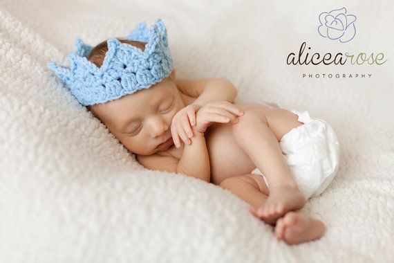 @Megan Kissner Gilbert You need this for your pictures.   Crochet Crown for Baby Boy. Adjustable Baby Boy Prince - Baby Boy Crown Photo Prop Baby Boy Hats