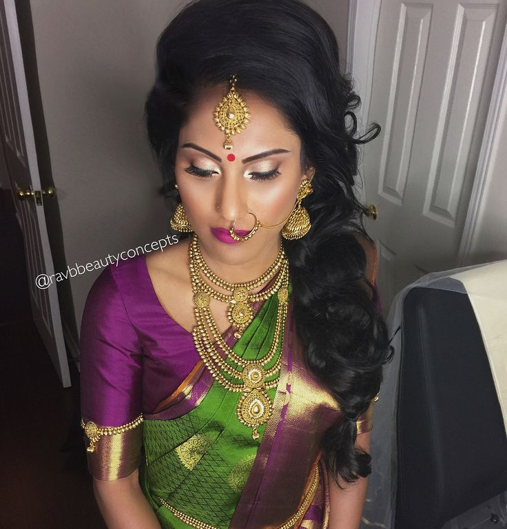 Wedding Hairstyle In Tamil: Indian Bridal Makeup, Indian Bridal Hair, Bridal Hair